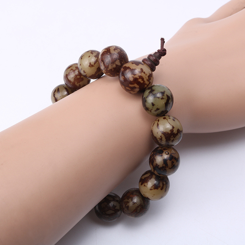 Fashion Charm Bracelet Bangle Natural Chicken Wings Wood Round Beaded Jewelry