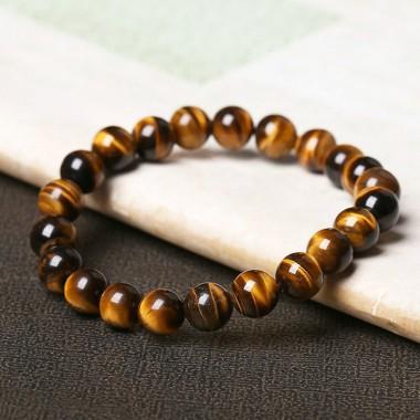 Natural Stone Bracelet Tiger Eye Love Buddha Bracelets Bangles Elastic Rope Chain For Women and Men Jewelry Christmas Gift
