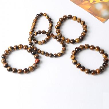 1PC DIA 10mm Tiger Eye Love Buddha Bracelets & Bangles Trendy Natural Stone Bracelet For Women Famous Brand Men Jewelry Couple