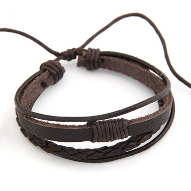 Hot Selling Men Bracelet Jewelry Multilayer Leather Charm Bracelet pulseiras femininas unisex wholesale