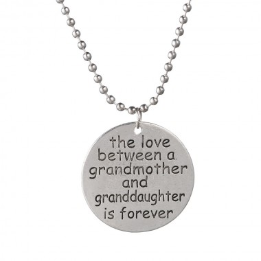 2018 New The love between a grandmother and granddaughter is forever necklace silver pendant Forever Love Choker Necklace Gift