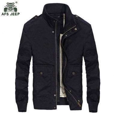 Hot men outwear AFS JEEP army jacket men zipper multi-pockets stand collar brand US military jacket men chaqueta hombre 135zr