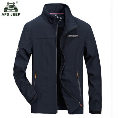 2018 Afs jeep Brand Jacket Men Slim Fit Casual Business Pocket Stand Collar Cotton Plus Size 4xl Casual Coats Men Jacket 97zr