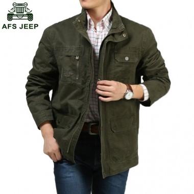 2018 New Mens Autumn Winter Jackets And Coats Plus Size M-4XL Men Plus Velvet Warm Jacket Military Style Outerwear h135