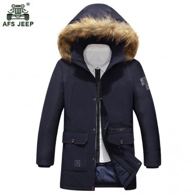 Winter men cotton-padded jacket male wadded hooded teenage outwear patchwork fur collar jacket thickening plus size parkas 293wy