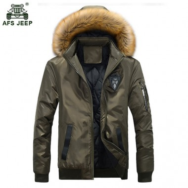 Brand 2018 New Cotton-Padded Clothing Casual Men's Jackets High Quality Fashion Autumn Winter Thick Outwear Jacket Parka 130wy