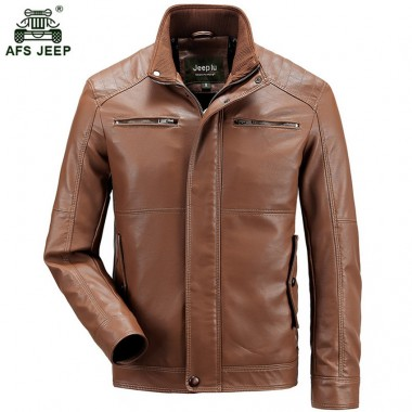 2018 Men's PU Leather Jacket Winter Motorcycle Leather Coats Men Clothing Stand Collar Male Jacket Slim Fit Fashion 145zr
