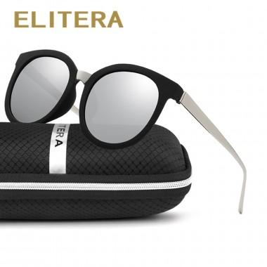 ELITERA Oval Sunglasses Men Polarized Male Ladies Retro Mirror Women Vintage Shades Luxury Brand Designe Sun Glasses