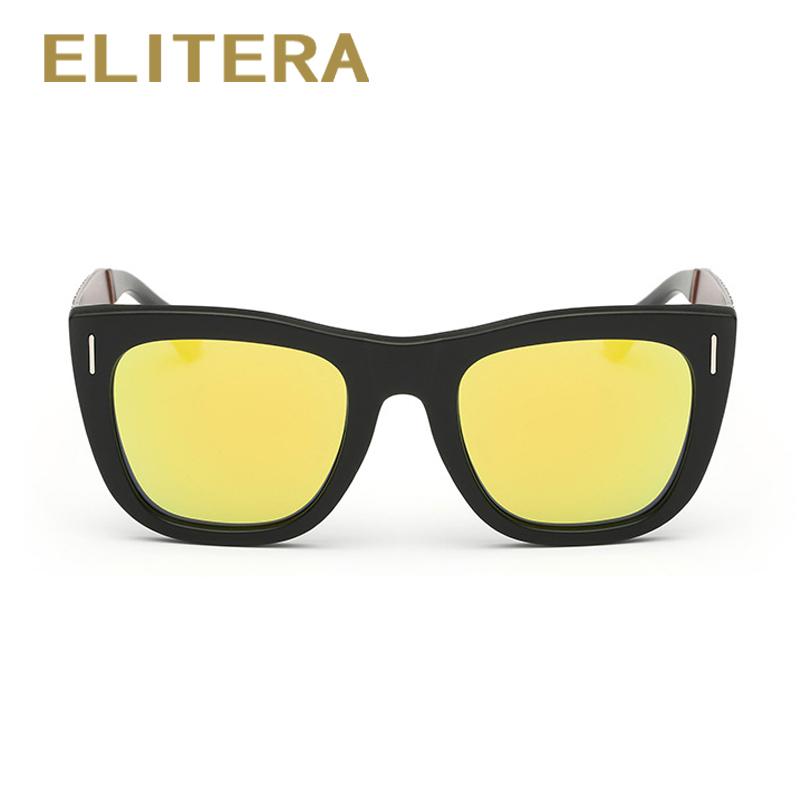 ELITERA New Square Polarized Sunglasses Men Driver Mirror