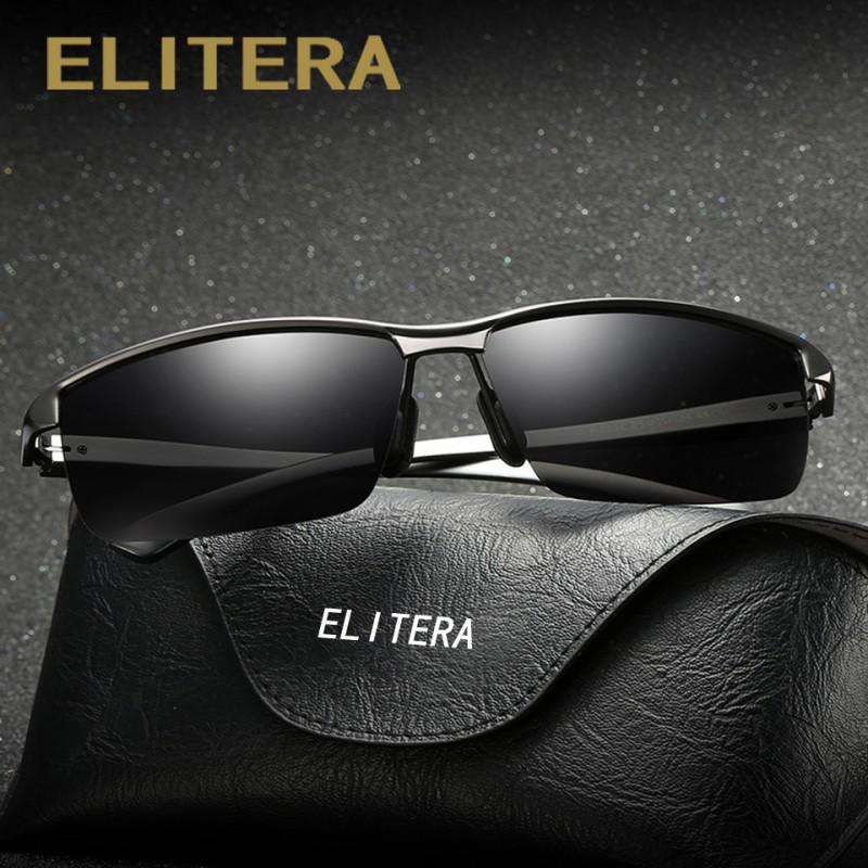 5ea6a9efa8 ELITERA Brand Design Classic Polarized Sunglasses Men Aluminum Magnesium  Square Frame Sun Glasses Driving Goggles UV400 Eyewear