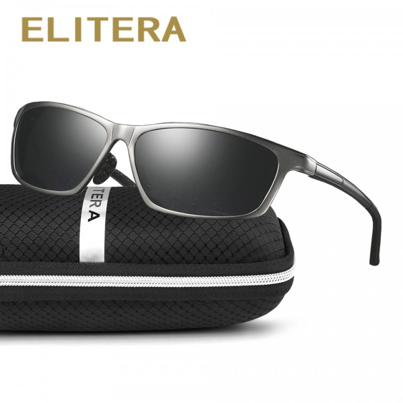 save up to 80% new products timeless design ELITERA New Aluminum Men's Sunglasses High Quality Polarized UV400 Driving  Sports Male Sun Glasses For Men Women Eyewear