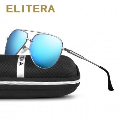 ELITERA Polarized Sunglasses Men Women Brand Designer Retro Vintage Driving Sun Glasses Men Male Sunglass Mirror