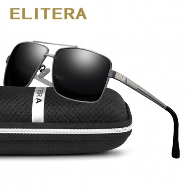 ELITERA Brand Designer Fashion Unisex Sun Glasses Polarized Mirror Sunglasses Square Male Eyewear For Men/Women
