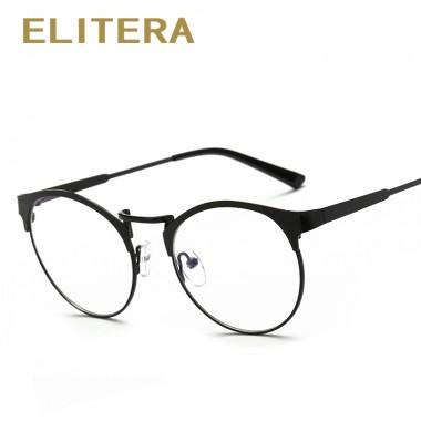 ELITERA Retro vintage brand round glasses frame plain eyeglasses for men women optical myopia eyeglass frame oculos de grau