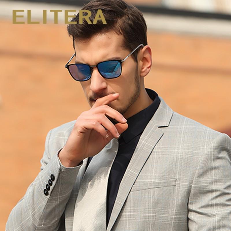 f6591de91bb0d ELITERA New Fashion Brand Designer Alloy Sunglasses Polarized Mirror lens  Male oculos Sun glasses Eyewear For Men