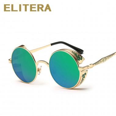 ELITERA Retro Round Designer Sunglasses Women Vintage Sun Glasses Women Coating Sunglass Oculos De Sol Gafas lunette de soleil