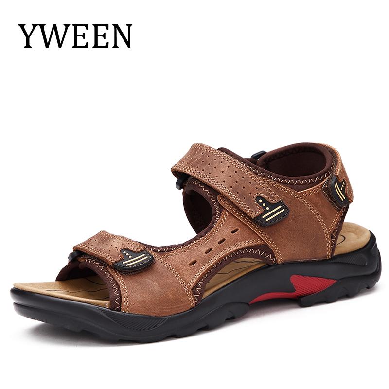 YWEEN Men Sandals Genuine Leather Men's