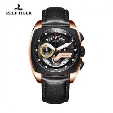 Reef Tiger/RT New Fashion Sport Watch Men Chronograph Quartz Watches Military Watch Waterproof relogio masculino RGA3363