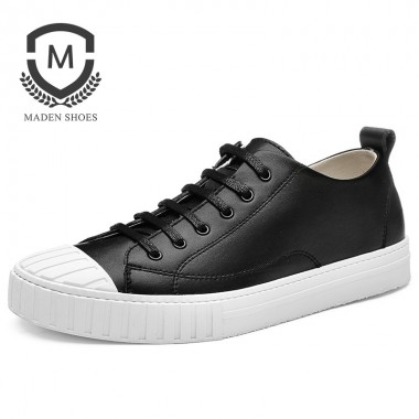Maden Brand Sping New Mens Casual Shoes Handmade High Quality Comfortable Retro Male Shoes classic style White Flats shoes