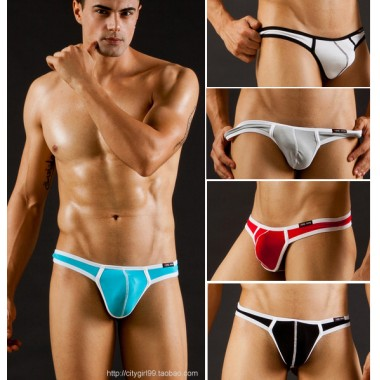 WJ male panties modal underwear thin low-waist single thong T  tight