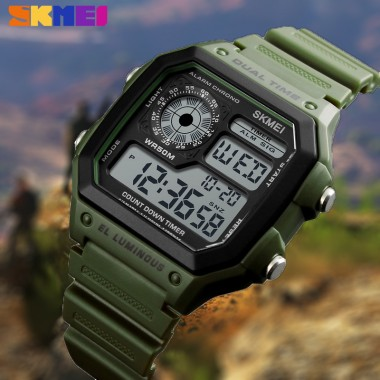 2018 Hot sale ! SKMEI Men's watch Luxury sport style LED digital watches for male Relojes Deportivos Man electronic Herren Uhren