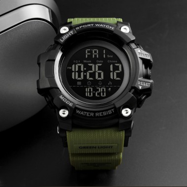 SKMEI Men Sport Watches Stopatch EL Backlight 12/24 Hour Count Down 50m Waterproof LED Digital Watch Montre Homme Man Clock 2018