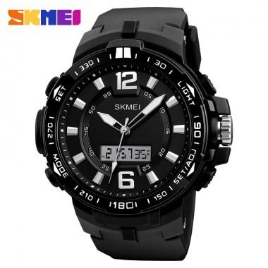 SKMEI Big Dial Men Outdoor Sports Watches Man Quartz Digital Watch Dual Display Wristwatches Waterproof Relogio Masculino 1273