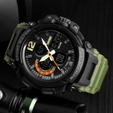 SKMEI Men's Watches Sport Watch Chronograph LED Display Digital Quartz Wristwatches Waterproof Clock Male Sport Watches For Men
