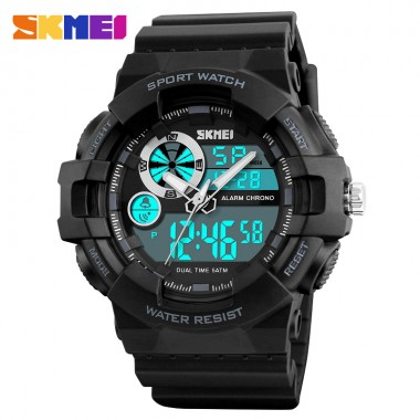SKMEI Brand Men Outdoor Sports Watches Waterproof Quartz Digital LED Electronic Watch Wristwatches Male Clock Relogio Masculino