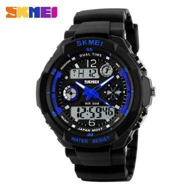 SKMEI Brand Men Quartz Digital Watch Sports Watches Clocks Reloj 50m Watwrproof Relojes Relogio Masculino Male Wristwatches 0931
