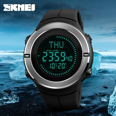 Fashion Sports Watches SKMEI Men Compass Waterproof Hiking Watch Countdown Chrono Alarm Digital Wristwatches Relogio Masculino