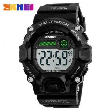 SKMEI Brand Men Double Time LED Display Watch Digital Wristwatches Chronograph Date Sports Watches Waterproof Relogio Masculino