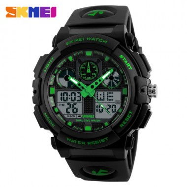 SKMEI Quartz Digital Watch Men Sports Watches Clock Double Time 50m Watwrproof Relojes Relogio Masculino Mens Wristwatches 1270