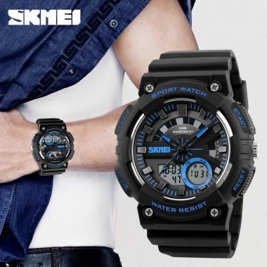SKMEI Men's Watches Men Sport Watch Alarm Chrono LED Digital Quartz Wristwatches 50m Waterproof Male Clock Sport Watches For Men