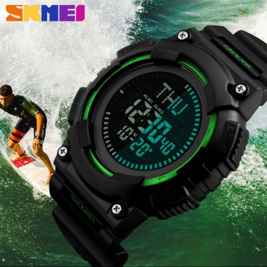 SKMEI Men's Watches Sport Watch Compass LED Display Digital Wristwatches 50m Waterproof Sport Watches For Men Relogio Masculino