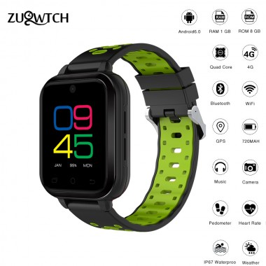 Smart Watch 4G Android 6.0 MTK6737 Quad Core1G/8G SmartWatch Waterproof Support WIFI GPS SIM Card Camera Heart Rate Wristwatch