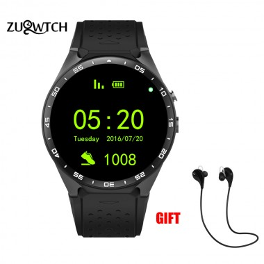 Android 5.1 Smart Watch Watches OLED Screen 512MB+4GB Smartwatch Support SIM Card GPS WiFi Camera Bluetooth Earphone Watch Phone