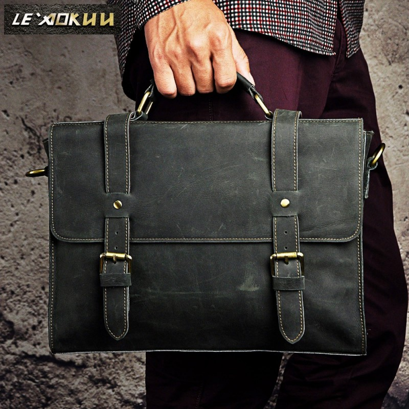 Men Pilot Business Briefcase Commercia Attache Document Laptop Portfolio Bag