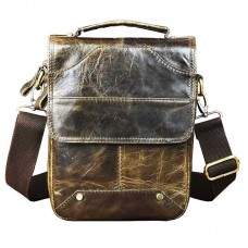 Quality Leather Male Designer Shoulder messenger bag cowhide fashion 8